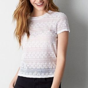 American Eagle outfitters Lace Baby T Shirt